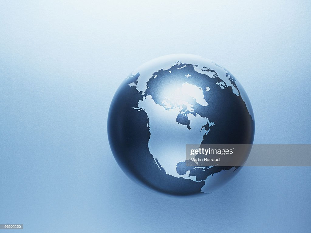 Metal globe : Stock Photo