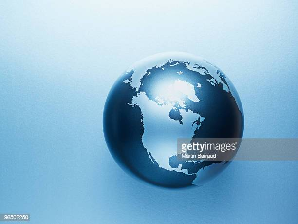 metal globe - north america stock pictures, royalty-free photos & images