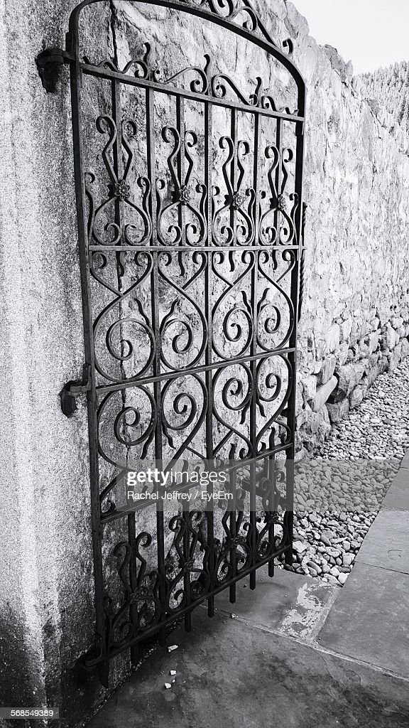 Metal Grate Against Wall : Stock Photo