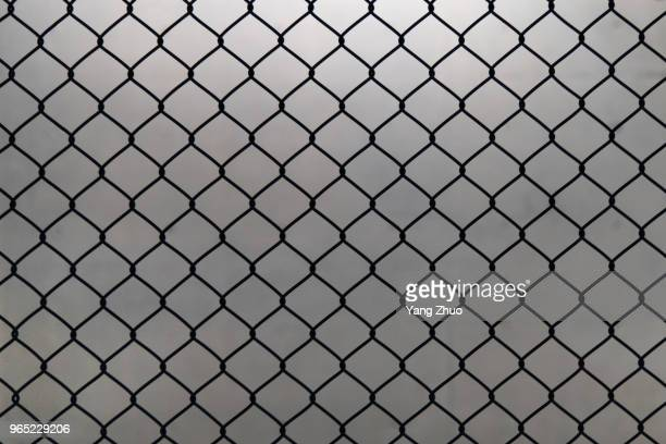 metal grid on a white background - hek stockfoto's en -beelden