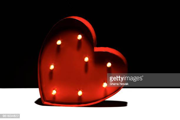 Metal Heart with Marquee Lights