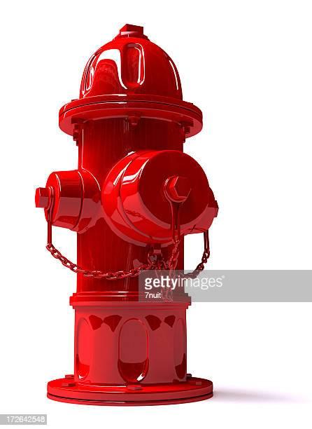 3 D Metall Hydrant-Vorderansicht