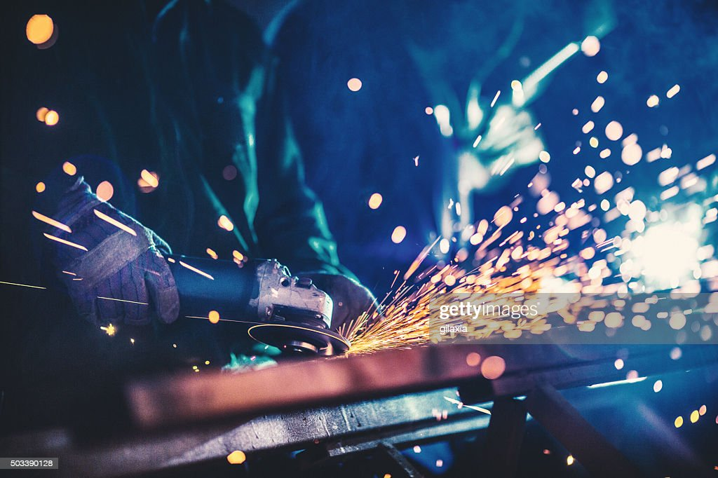 Metal industry routine. : Stock Photo