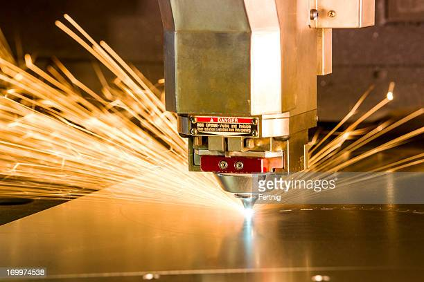 metal, laser-cutting tool. - cutting stock pictures, royalty-free photos & images