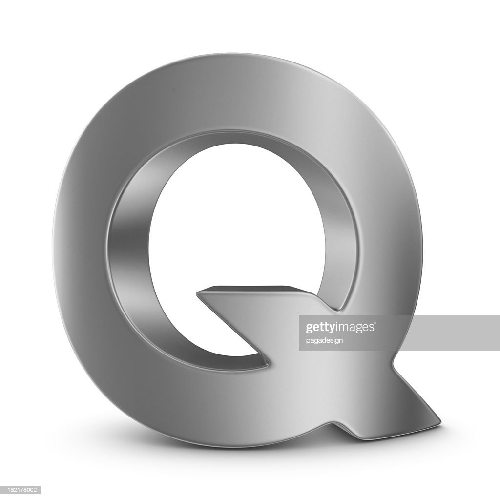 Metall Buchstaben Q : Stock-Foto