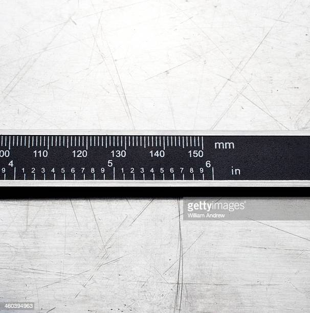 metal measure, mm and inches - inch stock pictures, royalty-free photos & images