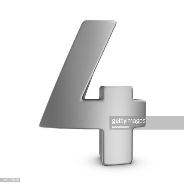 Numéro 4 en métal