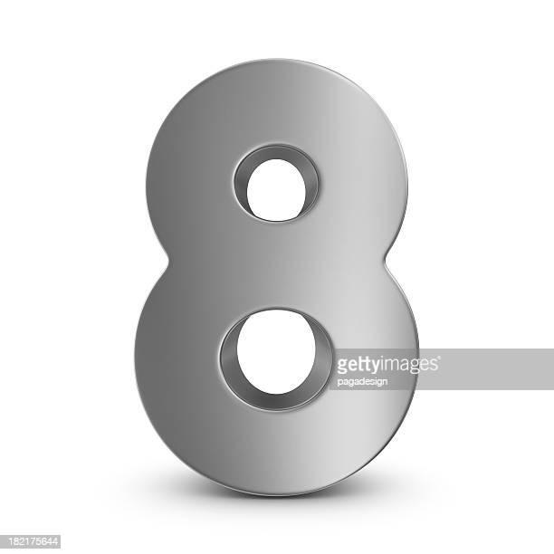 metal number 8