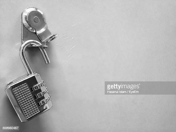 Metal Padlock Against Wall