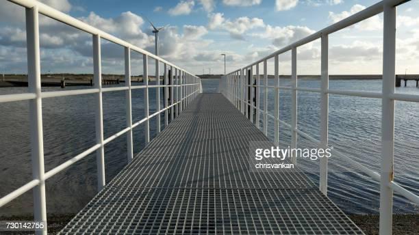 Metal pier, Vrouwenpolder, Zeeland, Holland