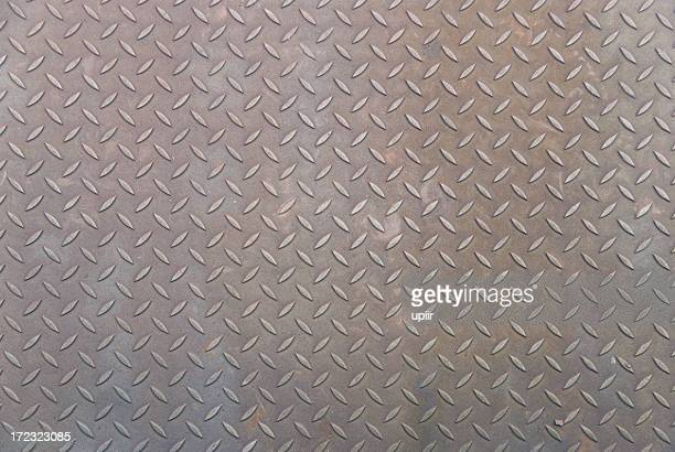 Metal plate texture from old railway bridge - background, games