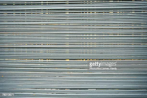 Metal rods, full frame
