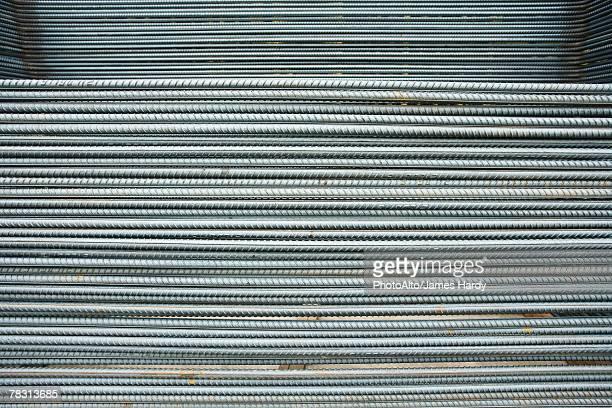 metal rods, full frame - vara - fotografias e filmes do acervo