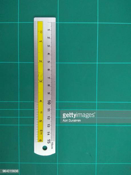 metal ruler - centimetre stock photos and pictures