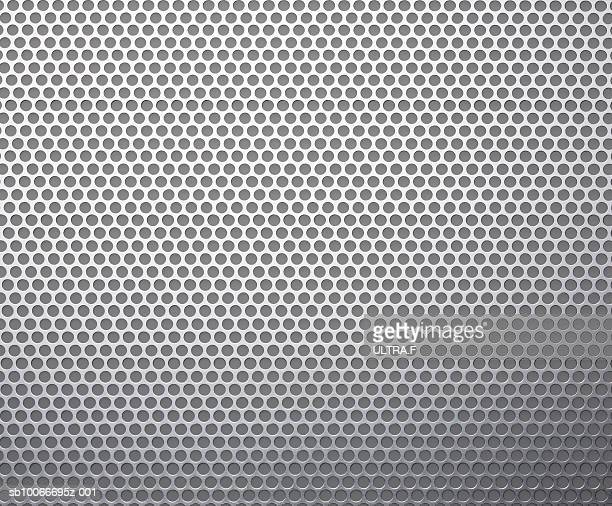 Metal sheet with grid, full frame