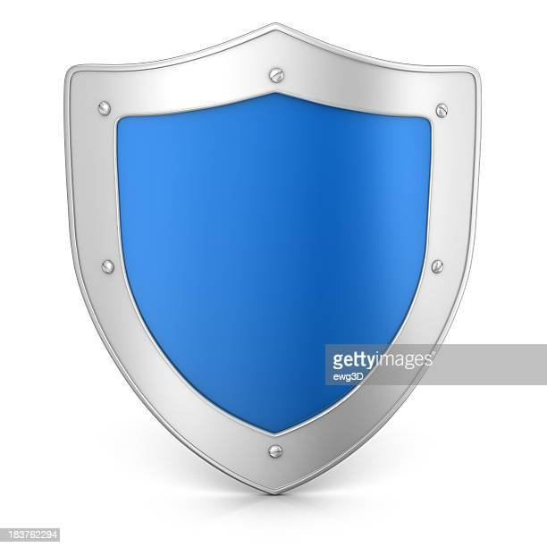 metal shield - shield stock pictures, royalty-free photos & images