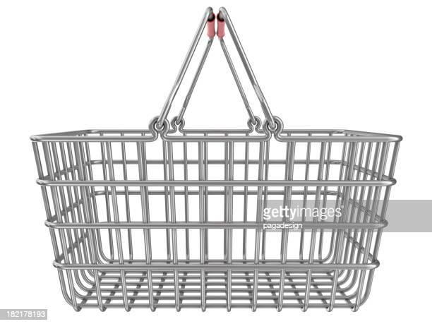 metal shopping basket