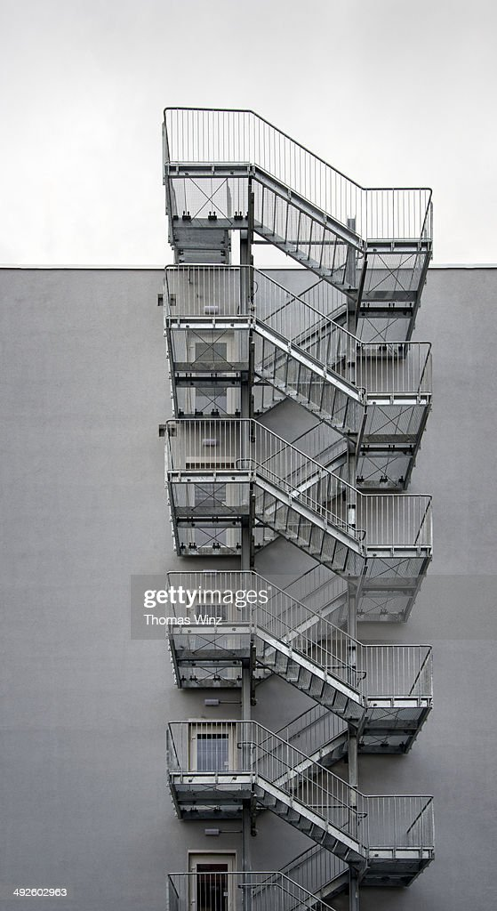 Metal Staircase Leading To The Roof