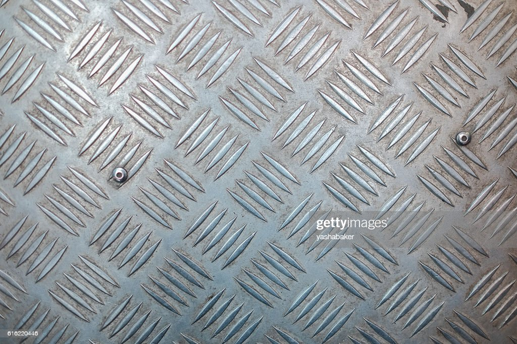 Metal surface with non-slip pattern : Bildbanksbilder