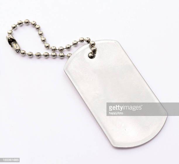 metal tag - military dog tags stock pictures, royalty-free photos & images