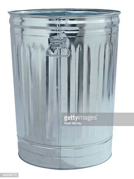 metal trash can - garbage can stock photos and pictures
