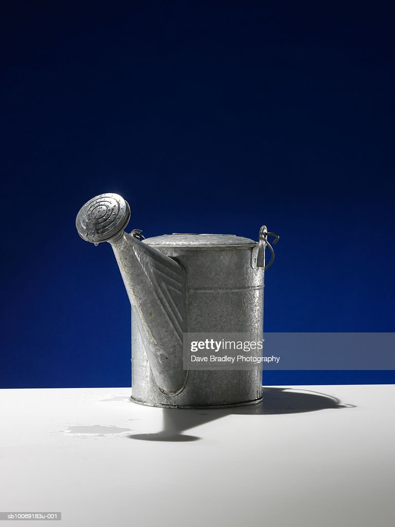 Metal watering can : Stockfoto