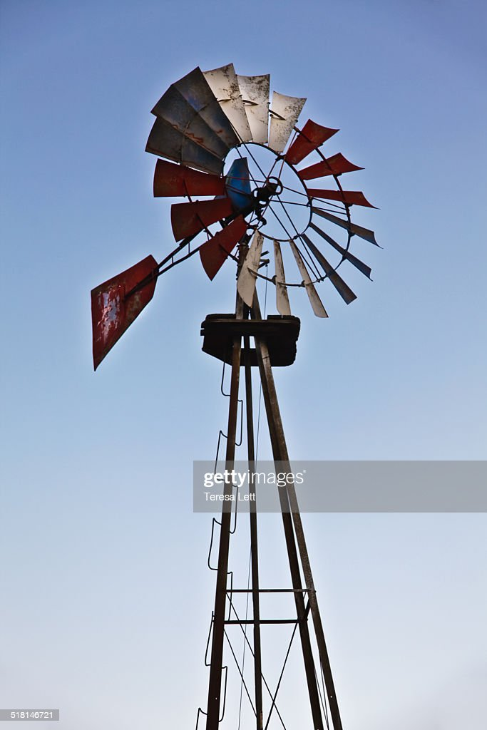 Metal windmill : Stock Photo