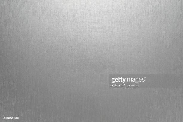 metalic hairline paper texture background - silver metal stock pictures, royalty-free photos & images