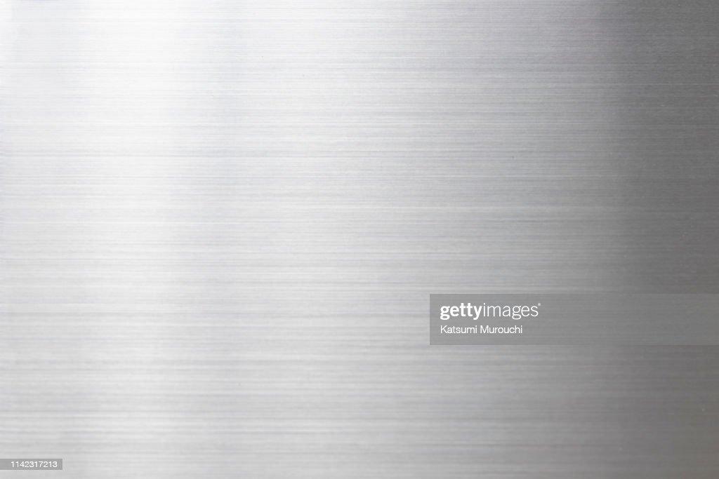 Metalic hairline texture background : Stock Photo