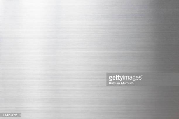 metalic hairline texture background - silver metal stock pictures, royalty-free photos & images