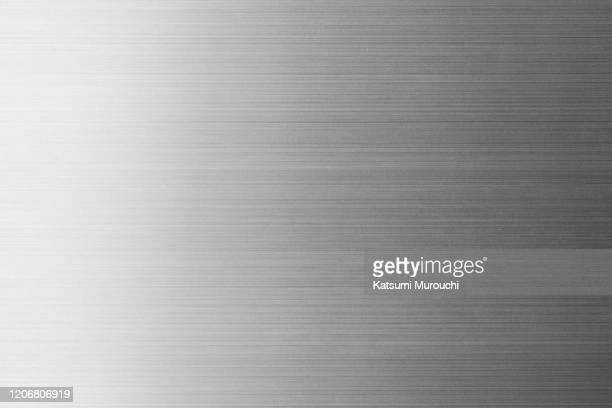 metalic hairline texture background - 銀 ストックフォトと画像