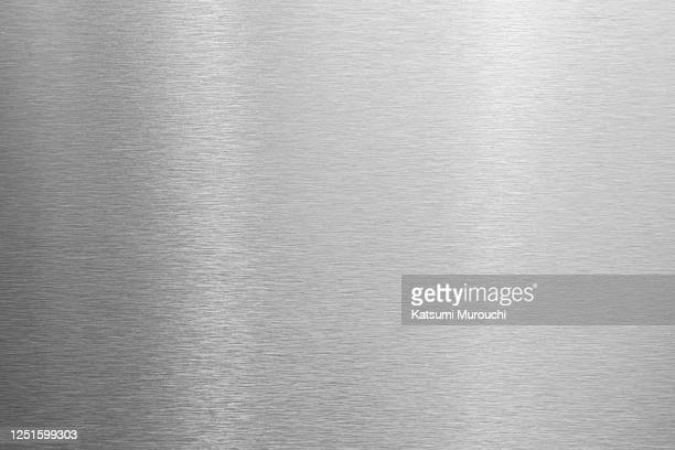 metalic hairline texture background - silver colored stock pictures, royalty-free photos & images