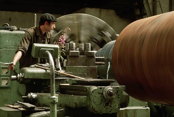 Metal-Lathe Operator Working for Electrosila, Leningrad