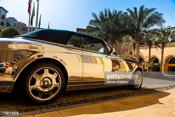 Metallic car at Palace Hotel
