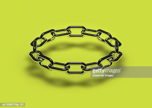 metallic chainlinks, close-up - chain object stock pictures, royalty-free photos & images