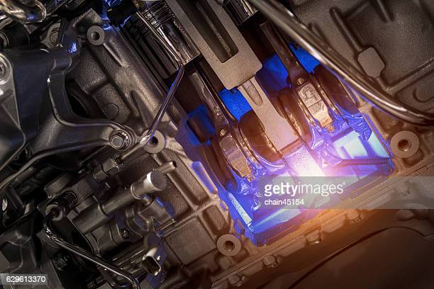 metallic engine background - piston stock pictures, royalty-free photos & images