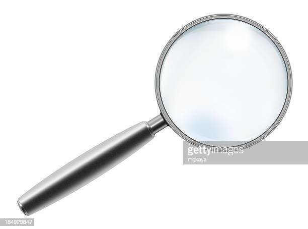 Metallic Handle Magnifying Glass