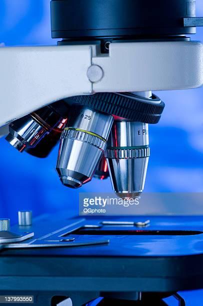 vista detalles de microscopio, óptica - ogphoto fotografías e imágenes de stock