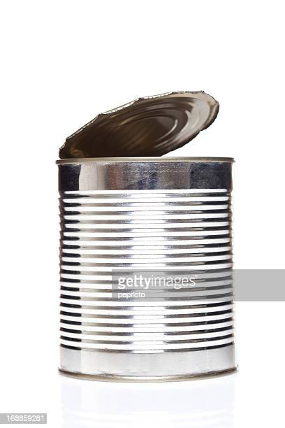 metallic open can - tin can stock pictures, royalty-free photos & images