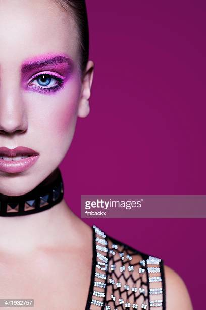 Metallic Pink Beauty Portrait