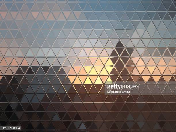 metallic reflection of sunset - finance stock pictures, royalty-free photos & images