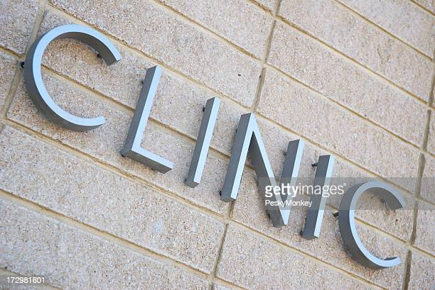 Metallic Sign for Clinic