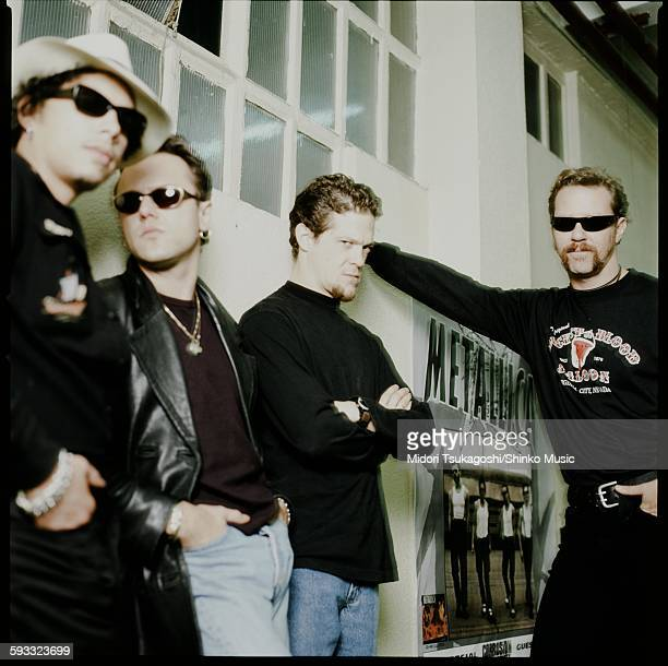 Metallica in a dressing room during live in Europe unknown September 1996