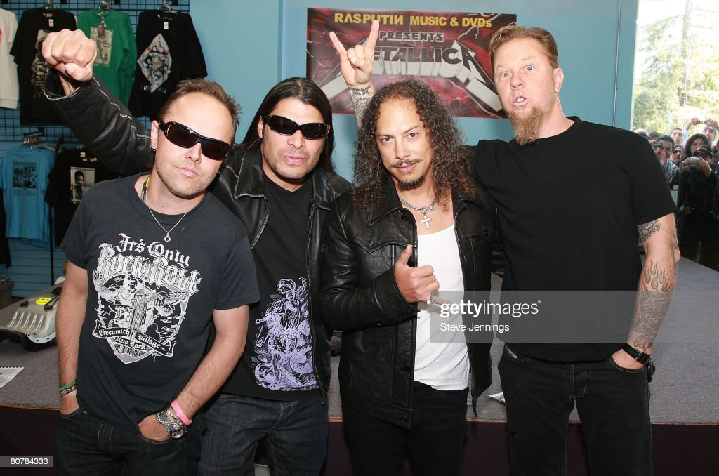 Metallica record store day at rasputin music photos and images metallica in store appearance to meet fans at rasputan music store on april 19 m4hsunfo