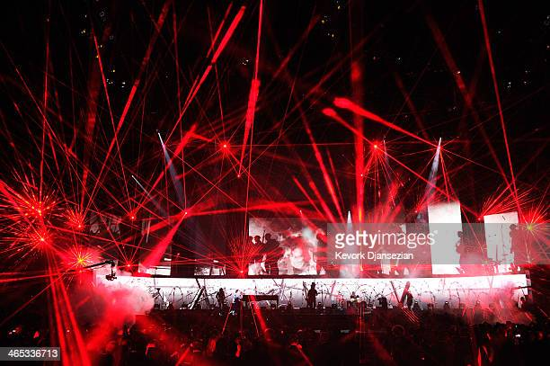 Metallica performs onstage during the 56th GRAMMY Awards at Staples Center on January 26 2014 in Los Angeles California