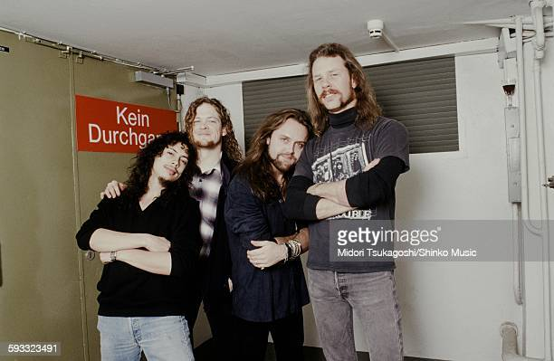 Metallica photo session in a dressing room during live in Berlin Berlin November 5 1992