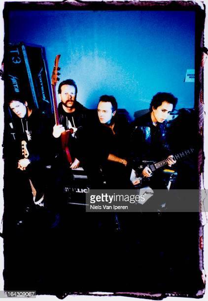 Metallica, portrait, NEC Arena, Birmingham, UK, 29th August 1996.