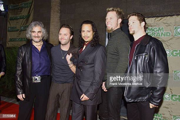 Metallica, winners at the 1999 Billboard Music Awards for Catalog Artist of the Year and Catalog Album of the Year, held on 12/8/1999 at the MGM...