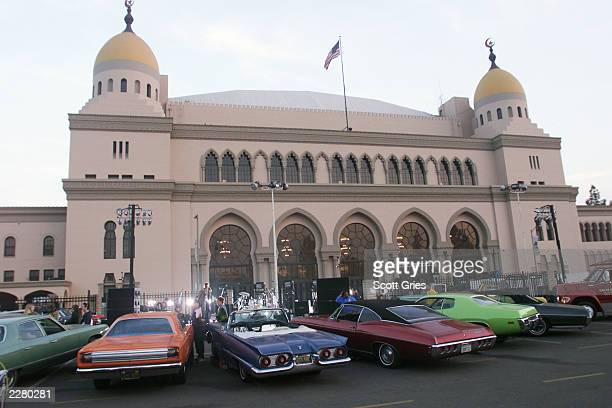 Metallica's set outside the Shrine Auditorium Los Angeles Ca for the 'VH1 My Music Awards ' The show will be held Thur 11/30/00 and air live on VH1...