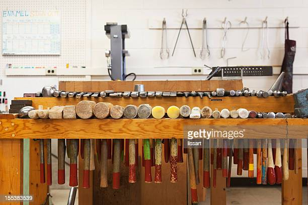 Metals Art Studio with Hammers